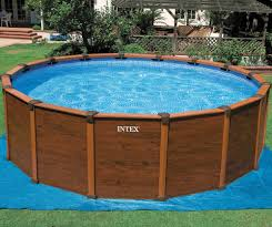 Contemporary Intex Above Ground Pool Pools With Wooden Frame In Models Ideas