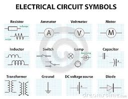 common circuit diagram symbols stock vector image 68934130 electronic symbol electric circuit symbol element set pictogram used to represent electrical and electronic devices