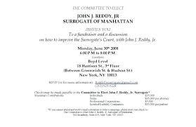 Political Fundraising Invitations Fundraising Invitation Samples Zoro Braggs Co