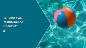 Equipment Checklist Beauteous 44 Point Pool Maintenance Checklist M R Smith Realty Group LLC