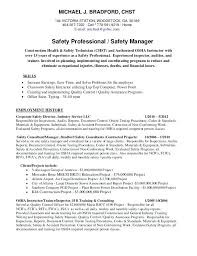 Occupational Health And Safety Resume Examples Best of Certified Safety Professional Resume Sample Resume Now App Hflser