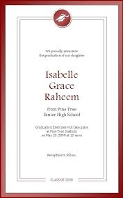 Graduation Announcements Template High School Graduation Announcements Template Biofonika Info