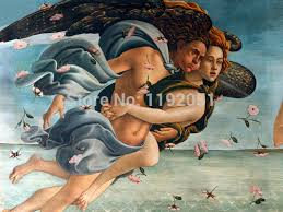 scenery paintings canvas prints seascape mythological detailed from sandro botticelli the birth of venus