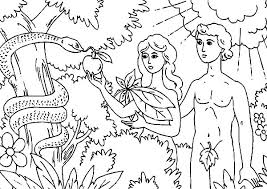 Adam And Eve Coloring Page And Eve Coloring Pages For Kids Adam And