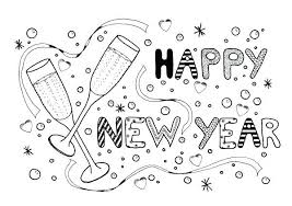 New Year Coloring Pages New Year Celebration Adult Coloring Page
