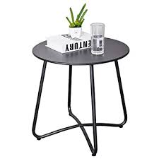 caifang patio metal side table round