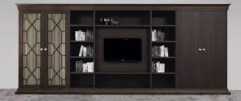 Tv Wall Unit Traditional Tv Wall Unit Wooden Biblioteka By Joe Gentile