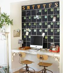 small office decor. Small Office Decor - Home With Full Chalkboard Calendar