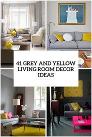 41 Stylish Grey And Yellow Living Room ...