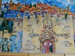 logo on messianic jewish wall art with list of messianic guesthouses in israel