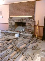 diy stone fireplace how to install stone veneer over brick fireplace best home ideas installing stacked diy stone fireplace