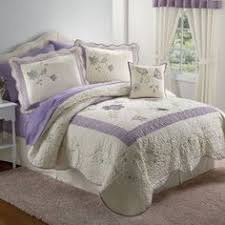Pem America Patch Of Flowers Queen 3-Piece Quilt Set, Yellow by ... & WHITE LAVENDER Quilt Set Adamdwight.com