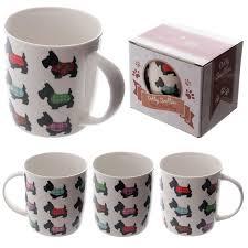 cute dotty scottie dog design new bone china mug