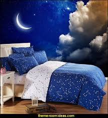 moon in the night sky clouds wallpaper mural celestial moon stars astrology