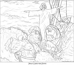 Jesus Calming The Storm Coloring Page Coloring Home