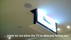 Chic Inspiration Intriguing Motorized Ceiling Drop Down Tv Mount Fing Fullsize Of Bracket For