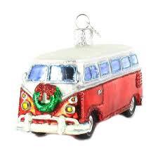 volkswagen bus. volkswagen bus samba camper van ornament set of 3
