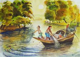 indian village life painting indian village life 10 by bhanu dudhat