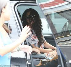 minor car accident. whoops: selena gomez reverses into a another car has she backs out of parking minor accident