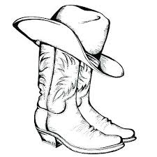 Cowgirl Coloring Pages Book Cowboy Boot P On Of A Horse Page For