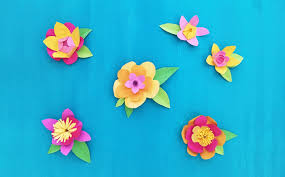 Flower Made In Paper Paper Flowers Made From Kids Old Artwork Creating Creatives