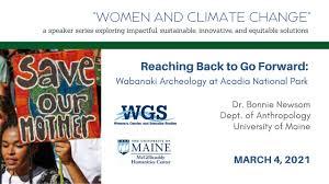 "Dr. Bonnie Newsom, ""Wabanaki Archeology at Acadia National Park ..."