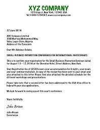 China Business Visa Invitation Letter Template Tomyumtumweb Com