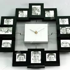 Full Image for Splendid Wall Clock Picture Frame 118 Wall Clock With Photo  Frames Online India