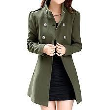 aisuper women s winter wool double ted long sleeve trench coat peacoat b01n1kg30y