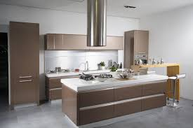 kitchen designs. Natural Brown Nuance Of The Modern Cabinet Kitchen Designs Can Be Decor With Grey Floor Add Beauty Inside Lighting E
