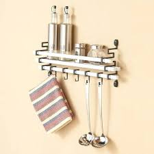 kitchen utensil hanging rack b white metal wall mount spice rack with kitchen utensil hanging hooks