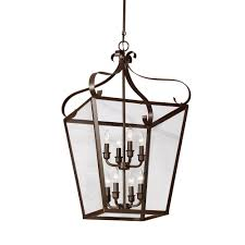 lockheart 8 light heirloom bronze hall foyer pendant