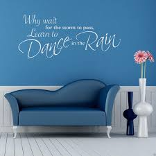 dance in the rain wall sticker lounge quote  on stencil wall art quotes with dance in the rain wall sticker lounge quote decal stencil transfer 2
