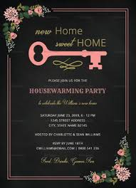 Housewarming Card Templates Chalkboard Housewarming Invitation Template In 2019