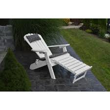 AL Folding Adirondack Chair With Pullout Ottoman Rocking Furniture