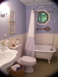 small clawfoot tub. Measure Your Budget For Cheap Bathroom Makeover Ideas : Lovely With Purple Small Clawfoot Tub