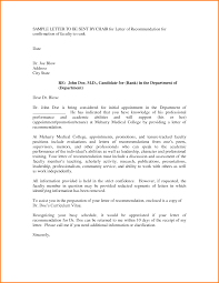 Academic Reference Letter Sample Recommendation Letter For Faculty Member Erpjewels 7