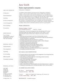 Resume Resume Samples For Sales Representative Best Inspiration