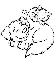 Small Picture Very Attractive Coloring Pages Cats And Dogs 8 Cat Coloring Pages