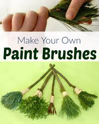 crafts for kids to make at home diy nature paint brushes for kids