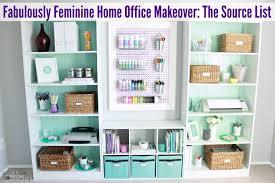 feminine home office. Home Office Sources At JustAGirlAndHerBlog.com Feminine
