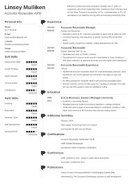 Accounts Payable Receivable Resume Samples 20 Ap Ar Examples