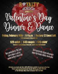 loyal cheer athletics booster club s annual valentine dinner and babysitting at the loft crafts activities and food all tickets are pre only and can be purchased at royalty athletix gym 812 799 3132