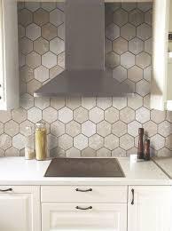 interior architecture romantic hexagon tile backsplash on id er för hemmet küche from hexagon