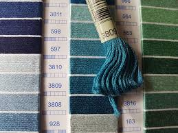 Dmc Embroidery Floss Color Chart How To Read A Thread Color Card