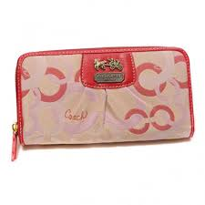 Coach Fashion Logo Large Red Wallets DUB