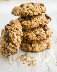 healthy oatmeal raisin cookies two