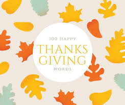 100 Happy Thanksgiving Vocabulary Words And Phrases Holidappy