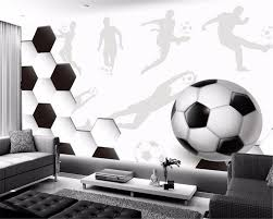 <b>Beibehang Custom any size</b> wall paper sports soccer large mural ...