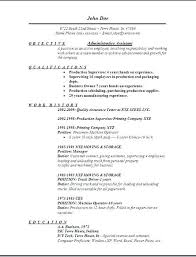 Executive Assistant Resume Templates Samples Of Resumes For Administrative Positions Office Work Resume
